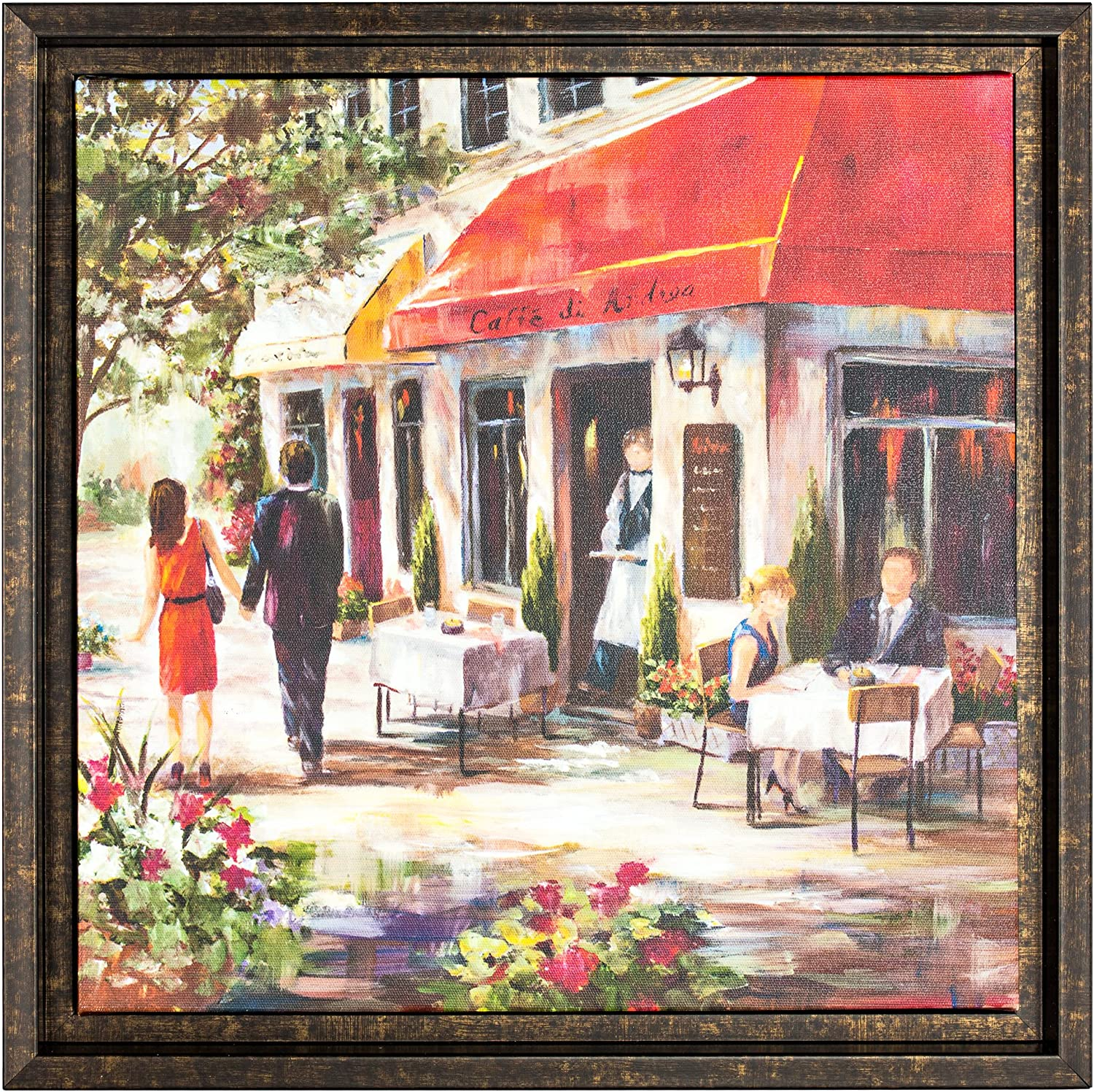 American Art Decor Cafe Afternoon 2 By Ruane Manning Framed Painting Print On Wrapped Canvas Wall Art Decor Posters Prints