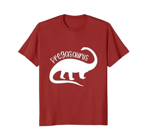 1f052a6335d7e Amazon.com: Pregasaurus T Shirt Mom To Be Funny Pregnancy Pregnant ...