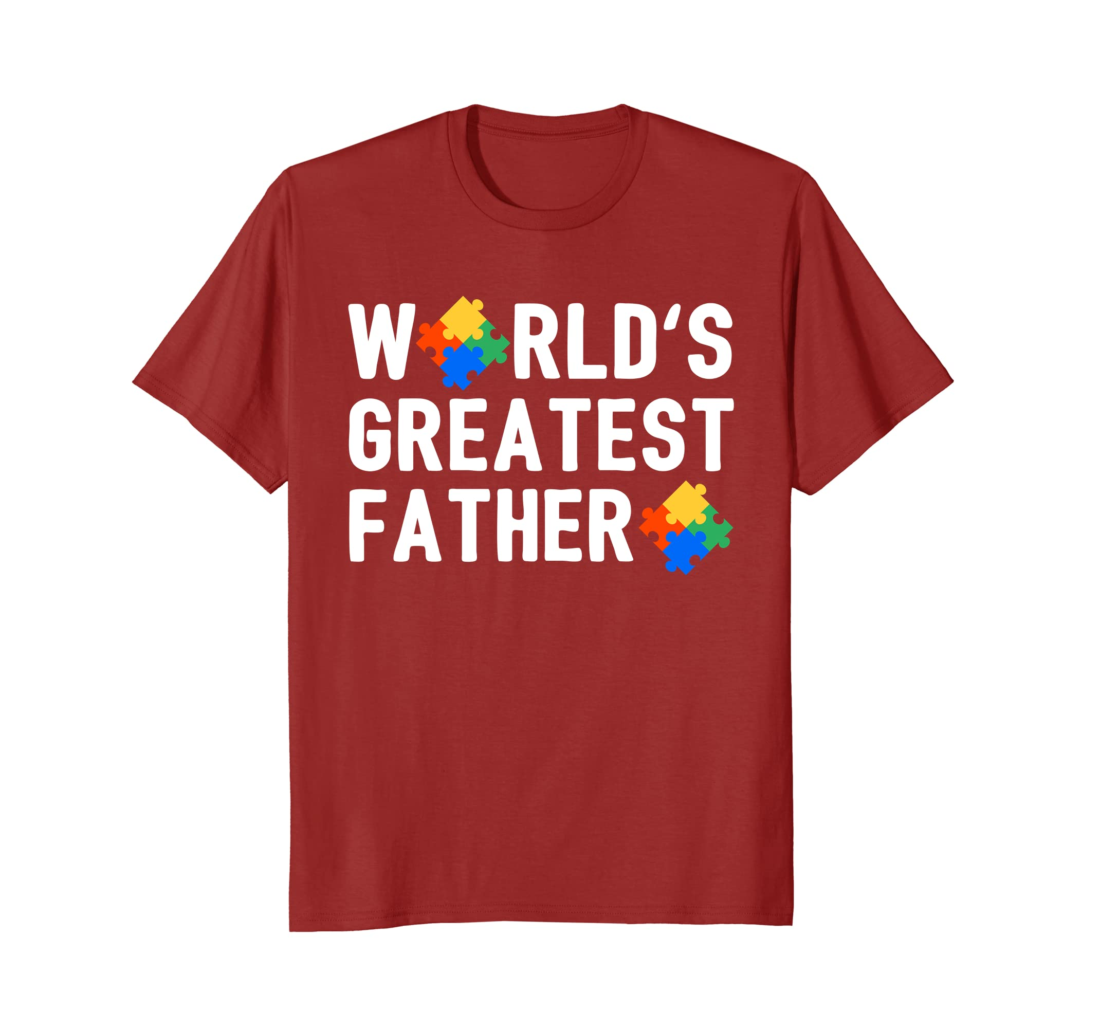 Autism Awareness Shirts Men Daddy Worlds Greatest Father- TPT