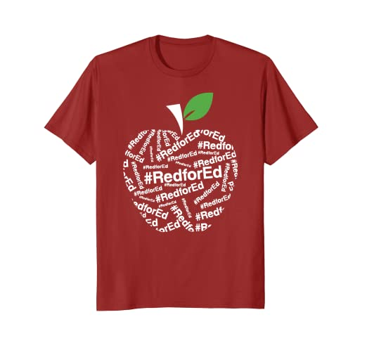 72b454c1ad28 Image Unavailable. Image not available for. Color: Red for Ed Shirts - Michigan  Teacher Protest Shirt. Roll over image to zoom in