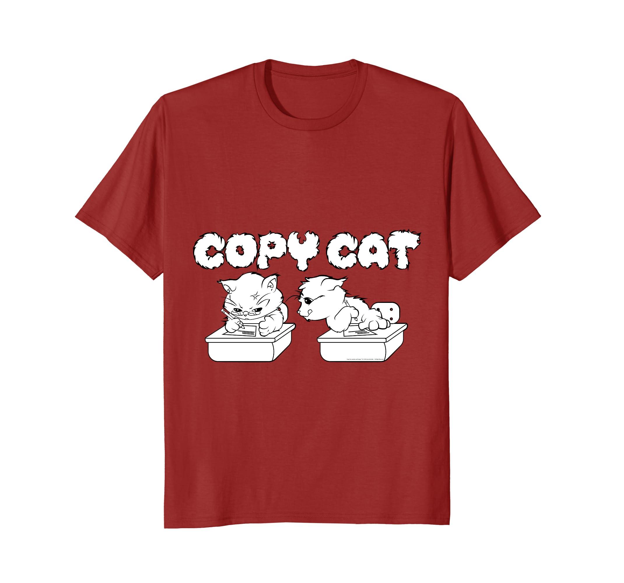 Adorable Cat T Shirt - COPY CAT Custom Design Gift Tee-ah my shirt one gift