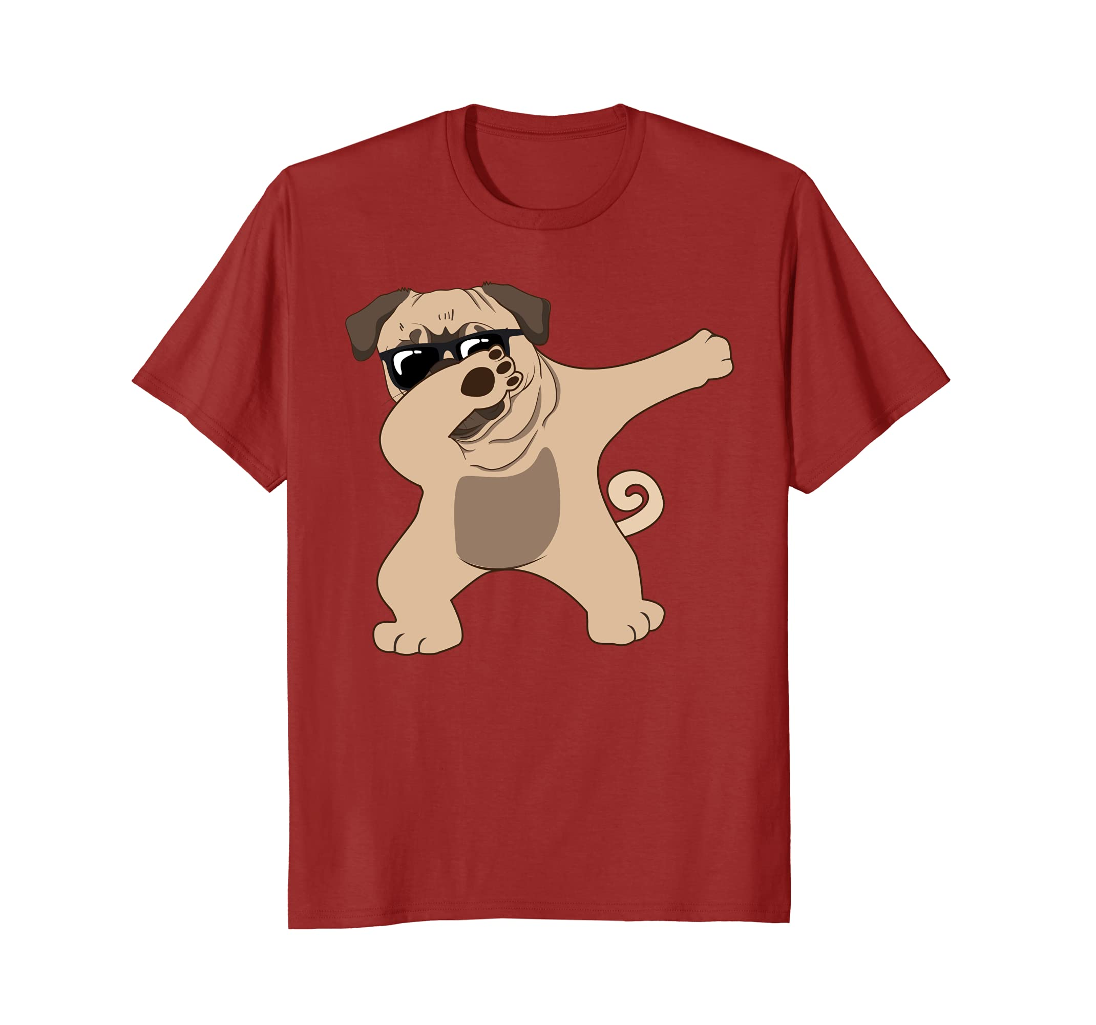 Dabbing Pug T-Shirt - Funny Unique Pugs Gift for Dog Owners-AZP