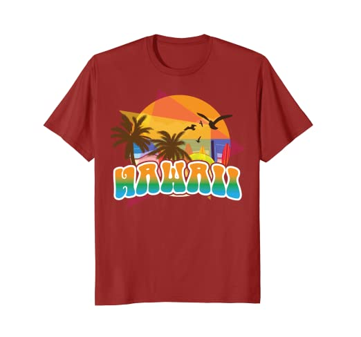 4bd4109a405 Image Unavailable. Image not available for. Color  Vintage Hawaii Shirt  Gift - 70s 80s Style Hawaiian Aloha Tee