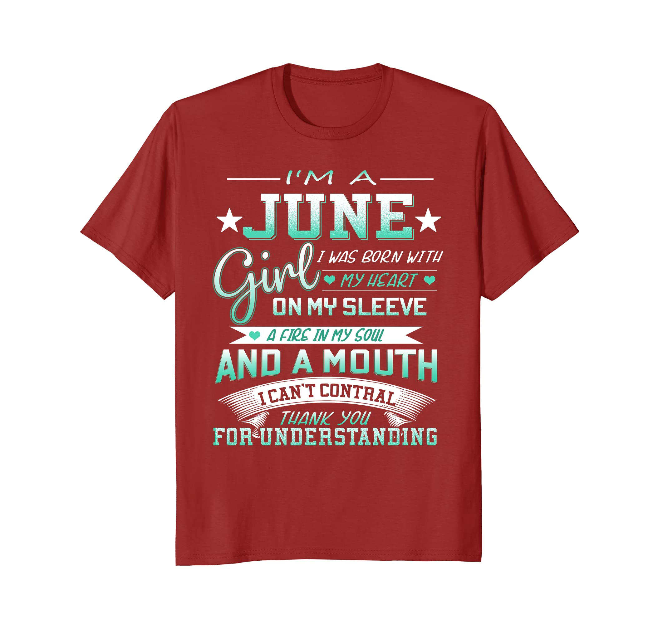 Amazon Im A June Girl T Shirt Special Gift For Birthday Clothing