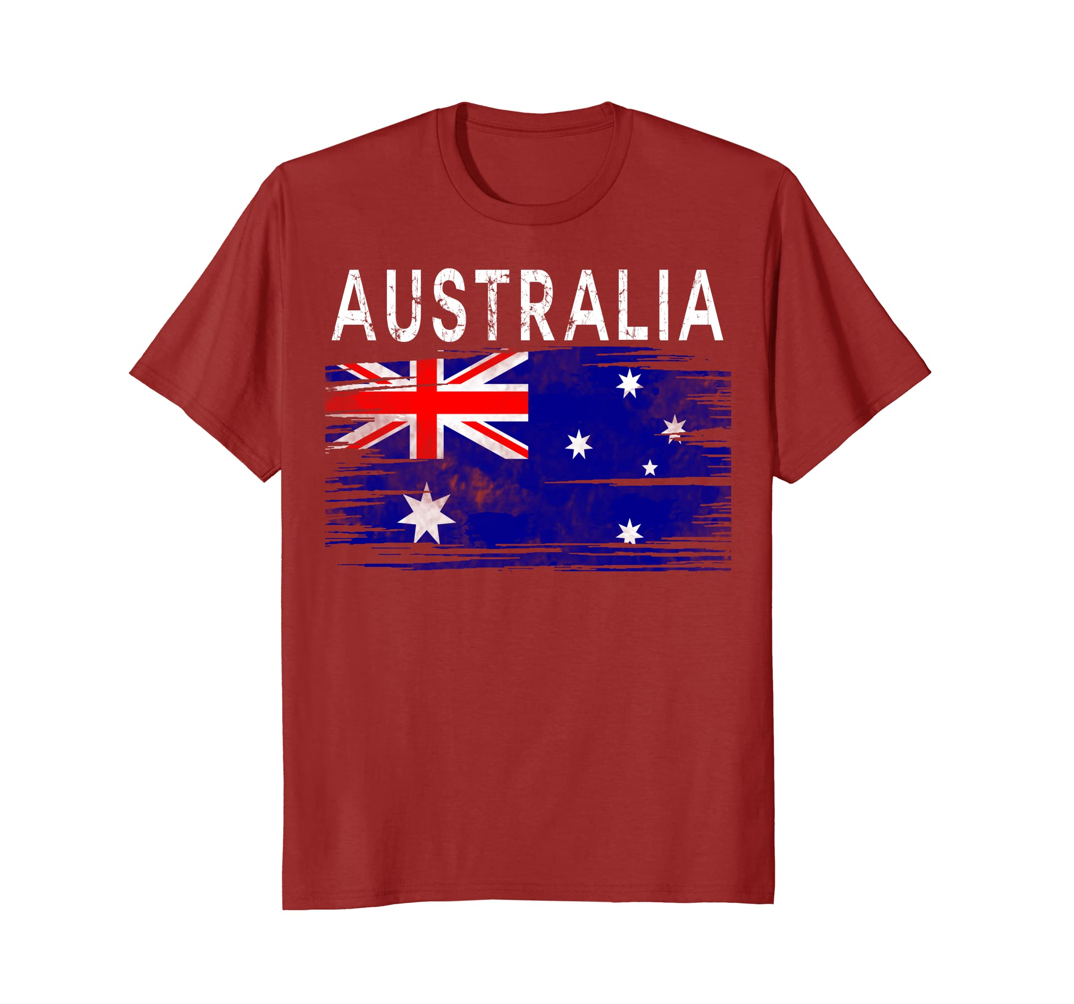 Australia Watercolor Shirt Australian Flag Kangaroo Heritage-AZP