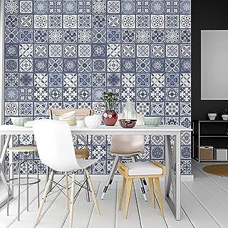 Walplus Lisbon - Muursticker/Tegelsticker - Blauw - 20x20 cm - 12 stuks
