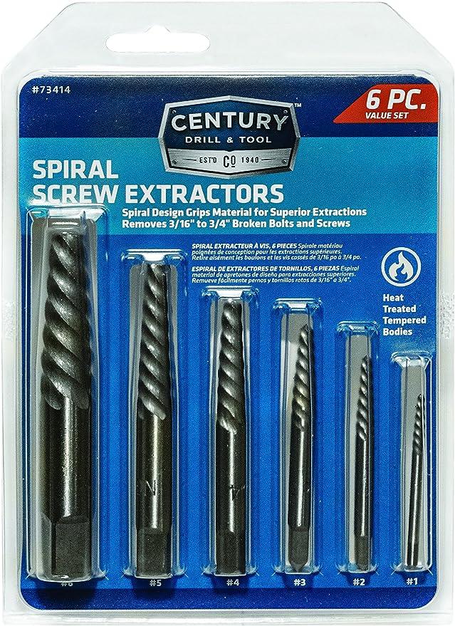 5 Piece Square Type Screw Extractor Set T/&E Tools 8950