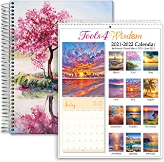 $44 » Tools4Wisdom 2 in 1 Calendar Planner Bundle - Be Happy Cherry Cover
