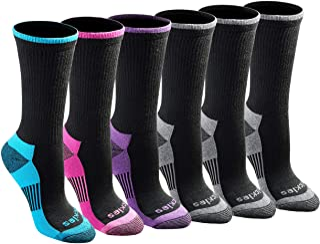 womens Dritech Advanced Moisture Wicking Crew Sock (6/12 Pairs)