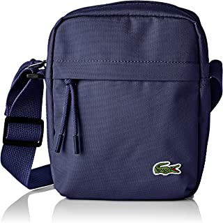 Lacoste Men's Vertical Camera Shoulder Bag, Blue