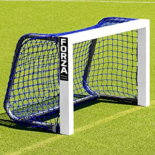 Forza Mini Field Hockey Goals – 3ft x 2ft Weatherproof Field Hockey Target Goal | Black Or Blue Net