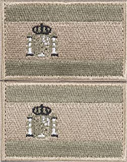 2 Parches Velcro x España Bandera Táctico bandera con velcro podría ser pegado a la ropa, chaleco, gorra, mochila Directamente OD 3628