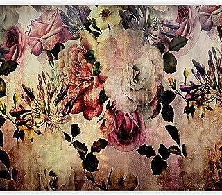 Vliestapete Fototapete Tapete Vlies Natur Uhr Blumen Struktur Vintage MIX013