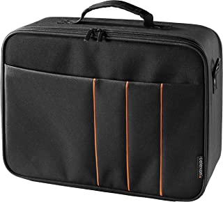 celexon Projector Case 16x11 inches, Projector Travel Carrying-Bag with Adjustable Shoulder Strap, for Epson, Acer, Benq, ...