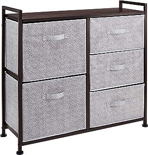 Amazon Basics Commode pour armoire - 5 tiroirs en tissu - bronze