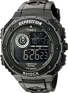 Men's T499839J Expedition Vibe Shock Watch with Black Band