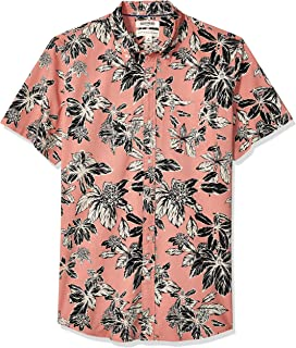 Amazon Brand - Goodthreads Men's Standard-Fit Short-Sleeve Printed Poplin Shirt