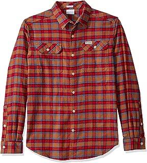 Columbia Mens Flare GunTM Stretch Flannel Short Sleeve Button Down Shirt