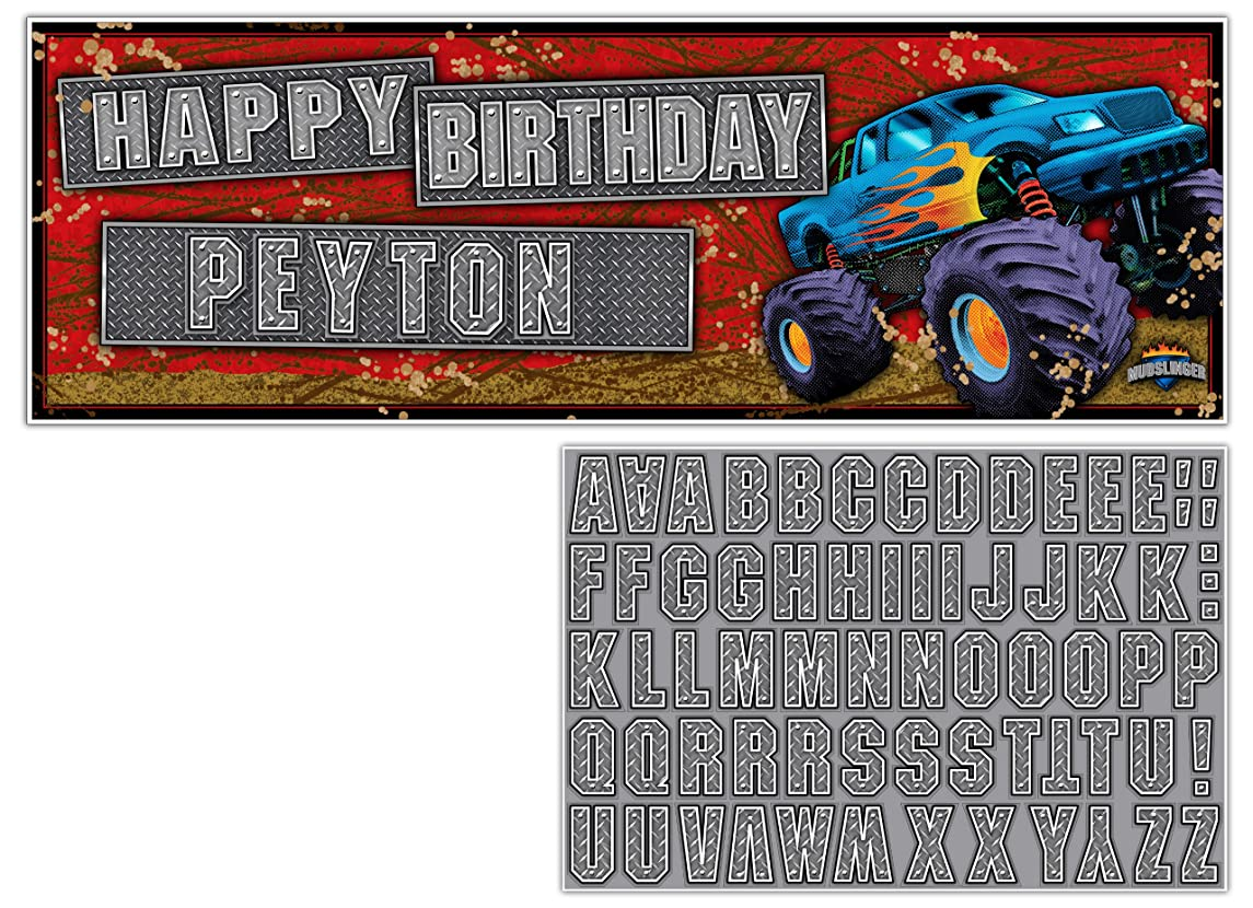 Giant Party Banner with Stickers, Mudslinger