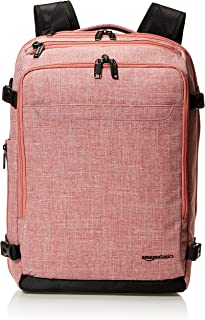 AmazonBasics Slim Carry On Backpack, Salmon
