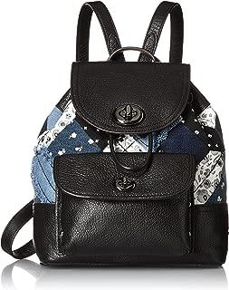 Womens Canyon Quilt Denim Mini Rucksack DK/Denim Skull Print Backpack