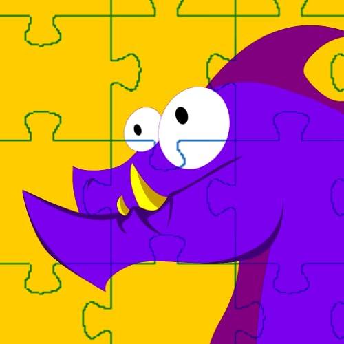 Puzzles mit Drachen und Feuerwehrmann