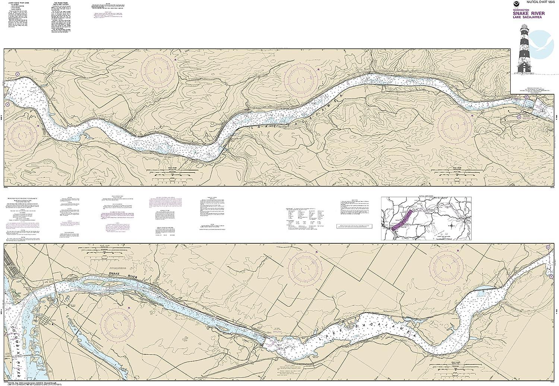 NOAA Chart 18545 Lake Sacajawea: Map Laminated 40.83
