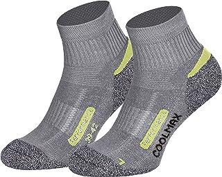 Piarini, Coolmax - 2 pares de calcetines cortos para senderismo y exteriores, talla 35-38 39-42 43-46 47-50, Todo el año, Mujer, color gris, tamaño 35-38