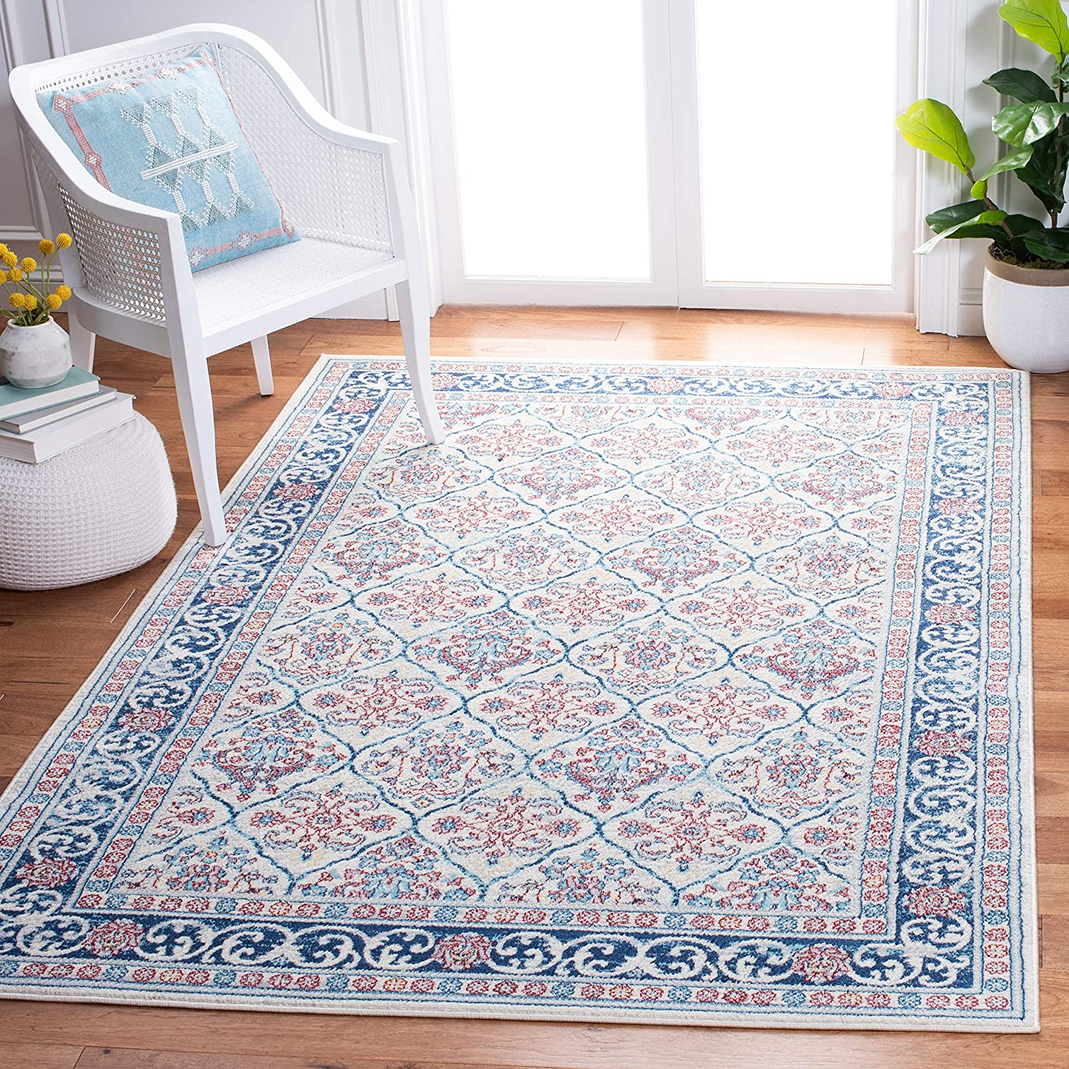 Safavieh Tampa Mall Brentwood Collection BNT870B Damask No Max 83% OFF Oriental Trellis