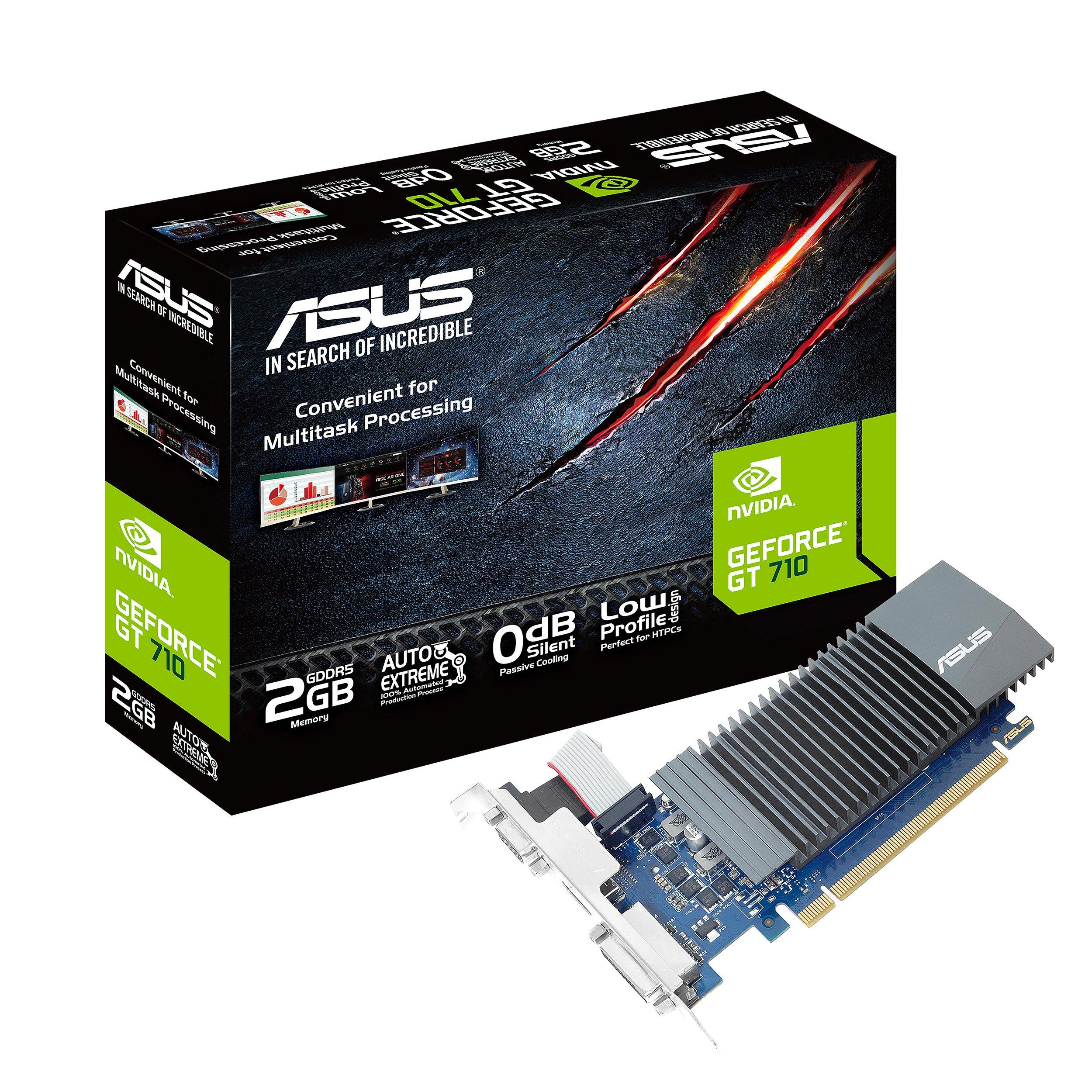Asus GeForce GT 710 2GB GDDR5 HDMI VGA DVI Graphics Card Graphic Cards GT710-SL-2GD5-CSM GT710-SL-2GD5-CSM GT 710 Low Profile 2GB DDR5