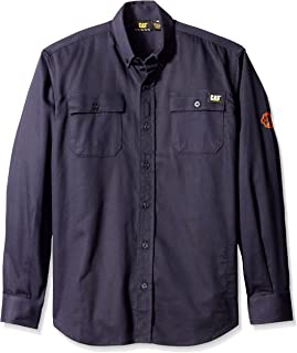 Flame Resistant 6.5 oz Lightweight Work Shirt With Stretch Panels