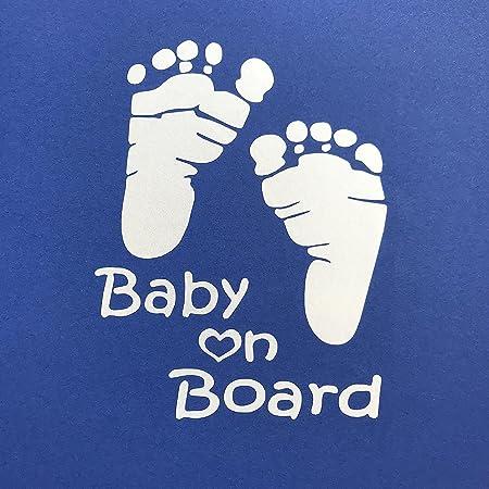 Autoaufkleber Baby On Board In Silbergrau Edler Sticker Für Das Auto 7 Baby