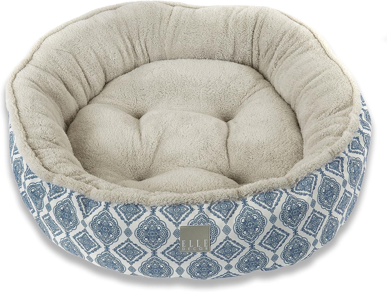 Home Dynamix Elle Decor Comfy Pooch Pet Bed 29x39 Med Large bluee Medallions