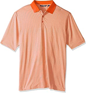 391247a44 Cutter & Buck Men's Big and Tall Moisture Wicking Drytec UPF 50 Forge Tonal  Stripe Polo