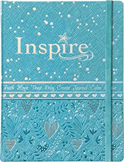Tyndale NLT Inspire Bible for Girls (Hardcover LeatherLike, Metallic Blue): Journaling and Coloring Bible for Kids – Over ...