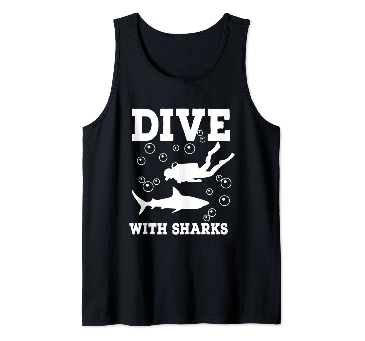 Dive with Sharks Tank Top