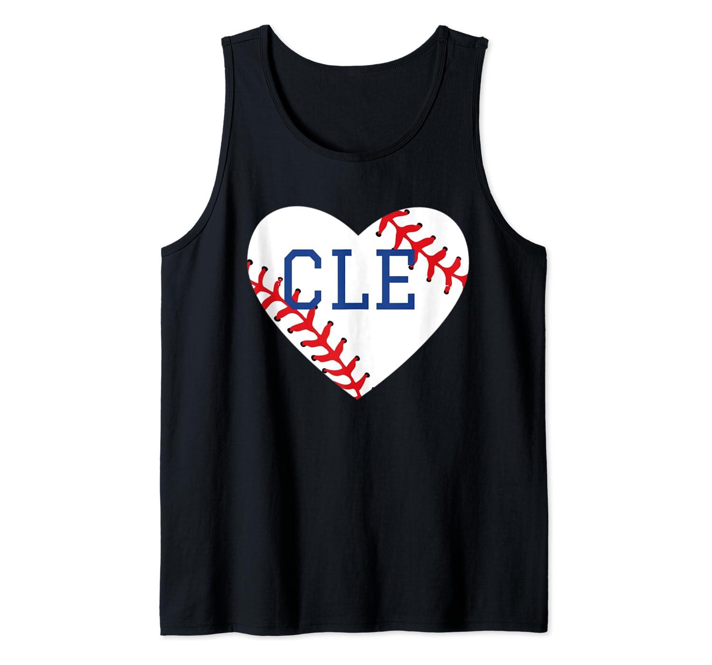 Cleveland Ohio Baseball Love Heart CLE Gift Jersey Fan Tank Top