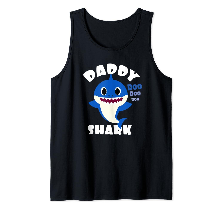 Mens Daddy Shark Gift Cute Baby Shark Design Family Set for Men Tank Top
