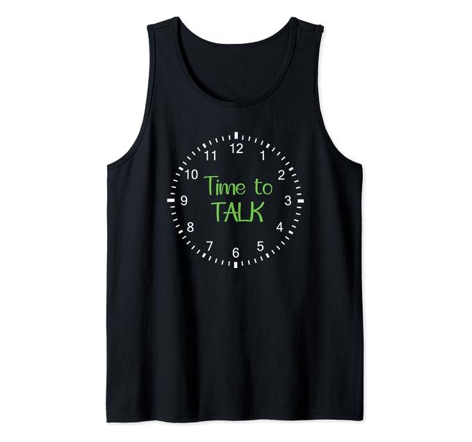 Time to Talk – Mental Health Awareness Tank Top