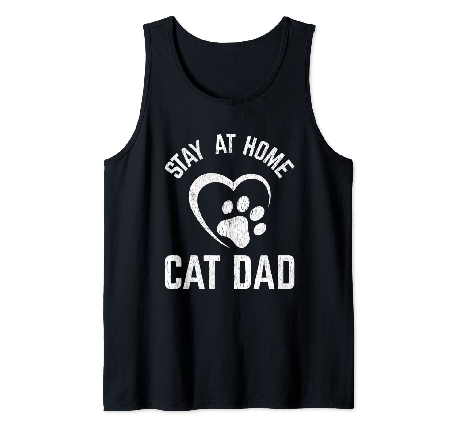 Funny Cat Dad Gift Stay at Home Cat Dad Tank Top