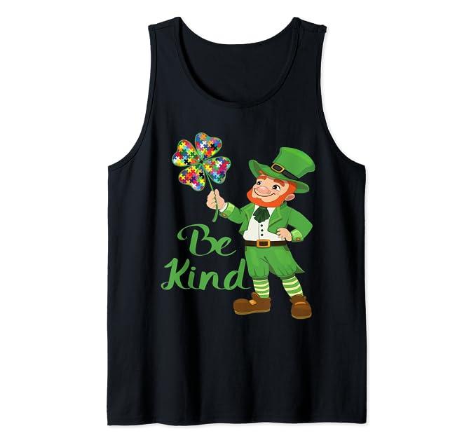 Be Kind – Irish Theme Autism Awareness Tank Top