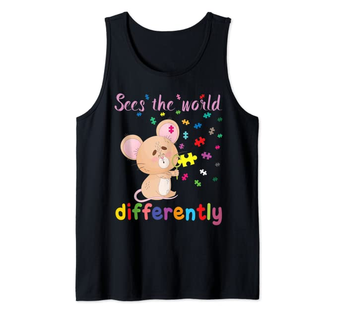 Sees the World Differently – Autism Awareness Tank Top