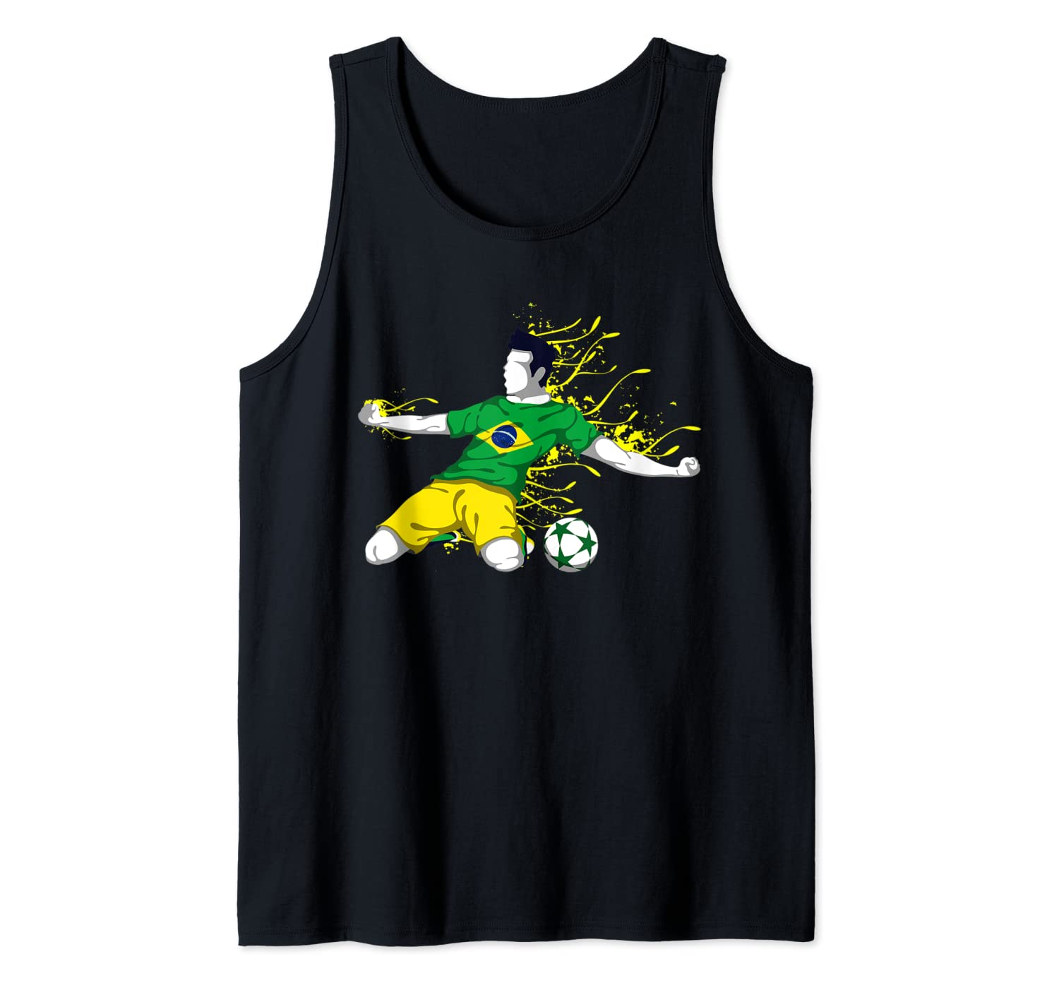 Brazil National Soccer Team Jersey Brazilian Football Gifts Tank Top