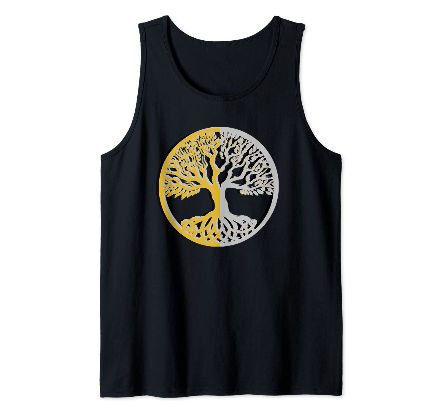 God and Goddess Wiccan Pagan Celtic tree Tank Top