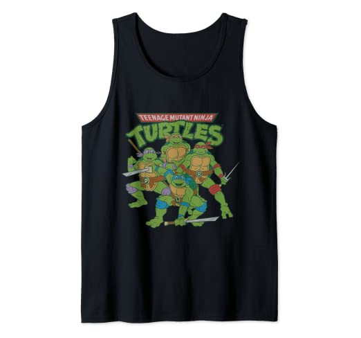 Amazon.com: TMNT Logo With Characters Ready To Fight Tank ...
