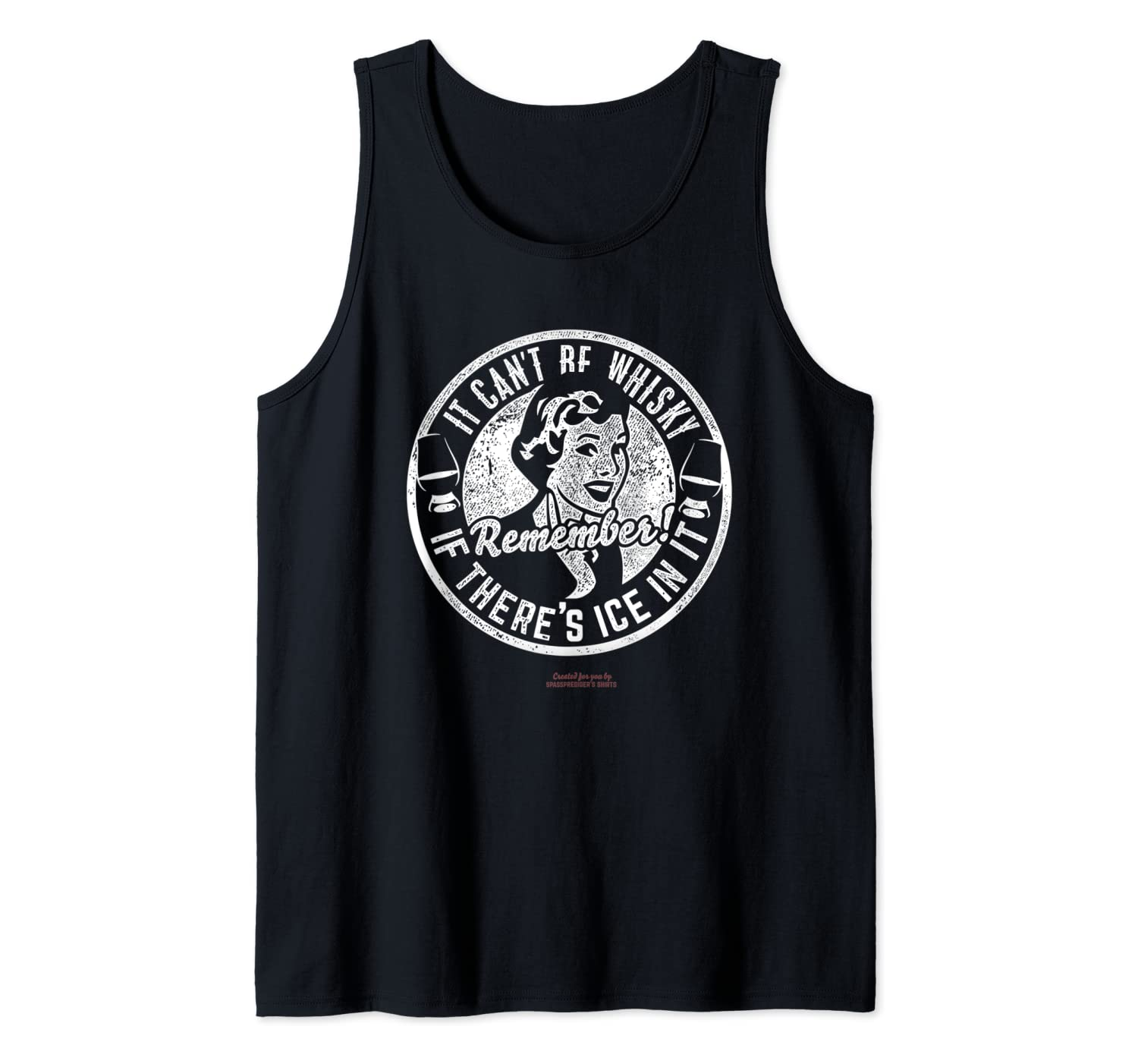 Whiskey Design Ice & Whisky - The Original Whiskey Tank Top