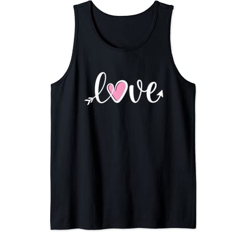 Valentines Day Shirts For Girls Pink Heart Cute Love Gift Tank Top