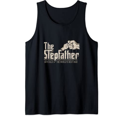 Mens Funny Stepdad Gifts Stepfather Officially World's Best Man Tank Top