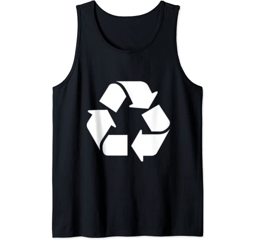 Funny Nerdy Leonard Recycle White Logo Environment Earth Day Tank Top