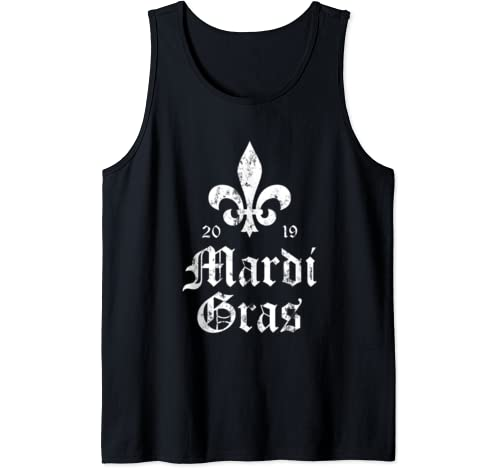 Vintage Previous Years Mardi Gras 2019   New Orleans Tank Top